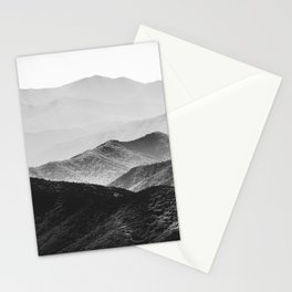 Glimpse - Black and White Mountains Landscape Nature Photography Stationery Cards
