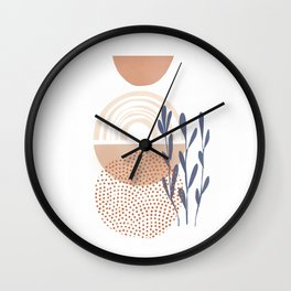 Classic Blue and baked Earth Theme Wall Clock