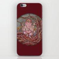 ganesha iPhone & iPod Skins featuring Ganesha by Sincronizarte