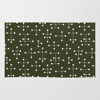 eames Area & Throw Rugs featuring Eames Era Dots 27 by Makanahele