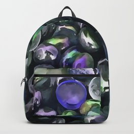 Decorative Glass Pebble Stones Painting Backpack