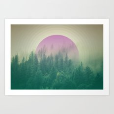 Orchid Vibes Forest Art Print