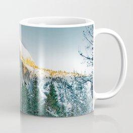 Half Dome In Winter Coffee Mug