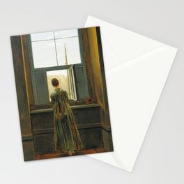 Woman at a Window by Caspar David Friedrich, 1822 Stationery Cards