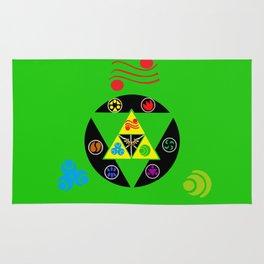 Zelda Triforce green Rug