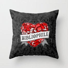 Bibliophile Heart Throw Pillow