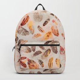 Autumn Feathers watercolor pattern Backpack