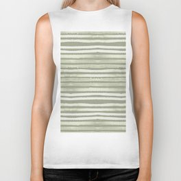 Simply Shibori Stripes Green Tea and Lunar Gray Biker Tank