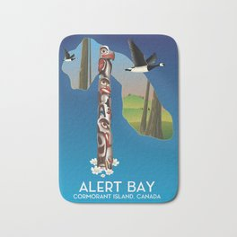 Alert Bay Canada Travel poster. Bath Mat
