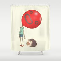 balloon Shower Curtains featuring balloon by cedricel