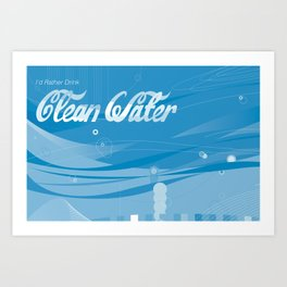 cleanwater Art Print