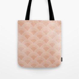 Elegant blush pink mermaid fish scale pattern Tote Bag