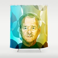 bill murray Shower Curtains featuring Bill by Tom Johnson