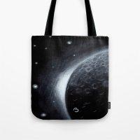 lunar Tote Bags featuring Lunar by BevyArt