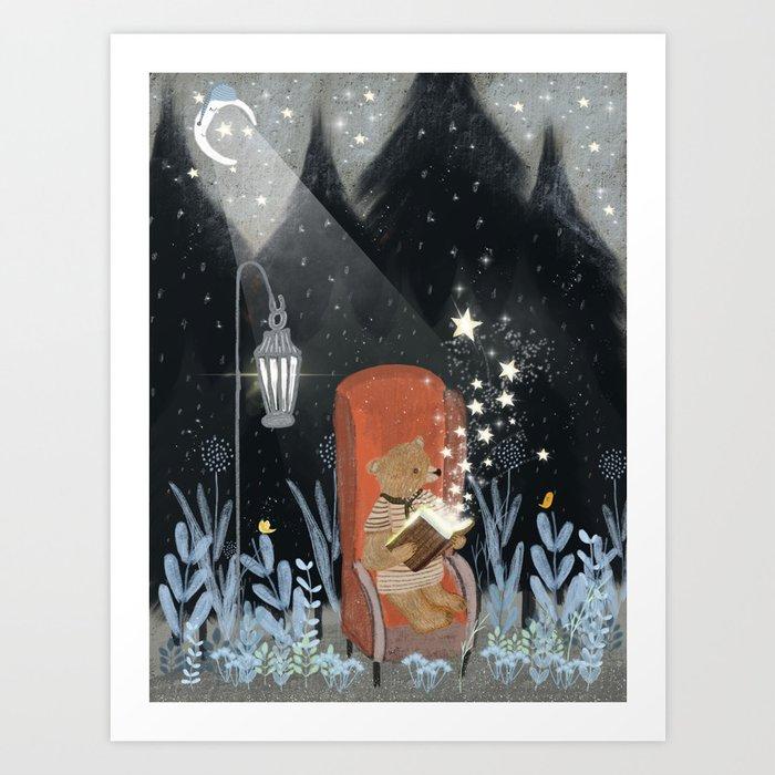 the little book of stars Art Print