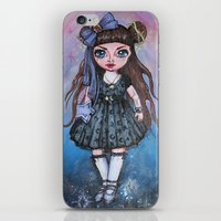magical girl iPhone & iPod Skins featuring Kawaii Magical Girl painting by c-lbi