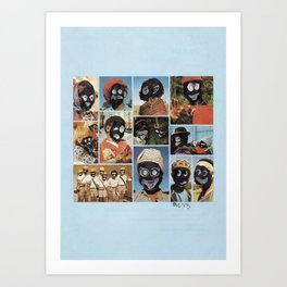 Faces of Sunday-5 Art Print