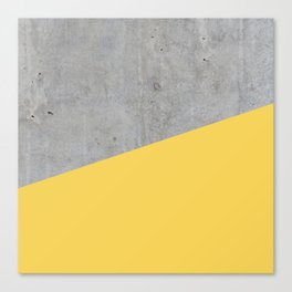 Concrete and Primrose Yellow Color Canvas Print