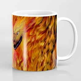 Red Dragon Claw in flames Coffee Mug
