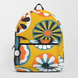 Geometric Pattern Flower Decoration Backpack