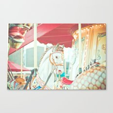 Spinning Carousel Canvas Print