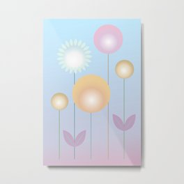 Design with flowers, abstract flower meadow, spring and summer Metal Print