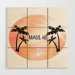 Maui, Hawaii Sunset Wood Wall Art