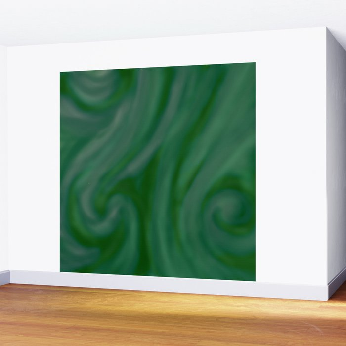 Green SWIRL Wall Mural