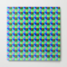 Eight Triangles Invert Pixel Metal Print