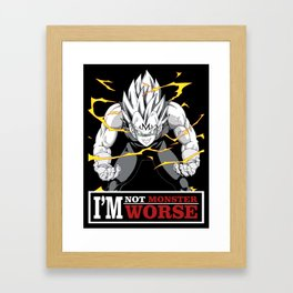 vegeta monster Framed Art Print