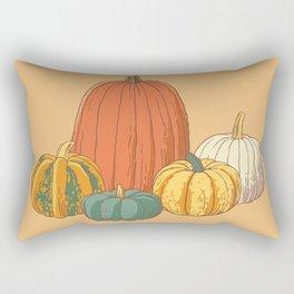 Fall Pumpkins Rectangular Pillow