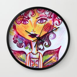 Live Well, Love Well (A Red Fairy Whispered) Wall Clock