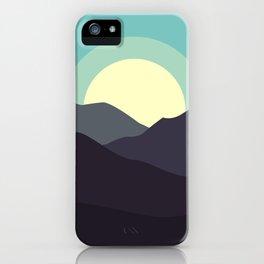 Minimal Mountain Night iPhone Case
