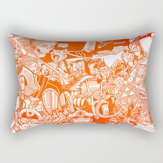explosion! Rectangular Pillow
