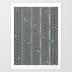 Birdsong Feather Stripe Art Print