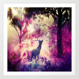 Alone in the Magic forest Art Print