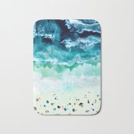 Aerial Beach Bath Mat
