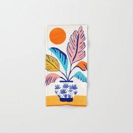 Summer Tropical Still Life / Plant Illustration Hand & Bath Towel