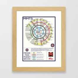 Final Fantasy VII - Midgar Mass Transit System Map Framed Art Print