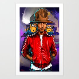 Pharrell and Minins Art Print
