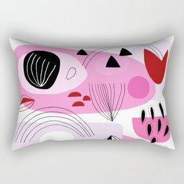 Abstract Shapes Pink Rectangular Pillow