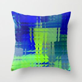 Square glass 7 Throw Pillow