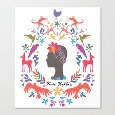Frida Cameo in Blanca Canvas Print