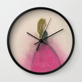 Princess Roses Wall Clock