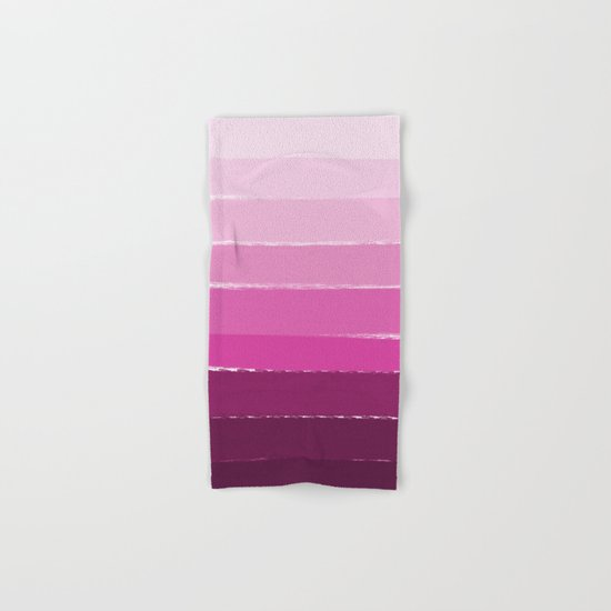 Ombre pink gradient color pantone trendy beach summer happy face Hand & Bath Towel