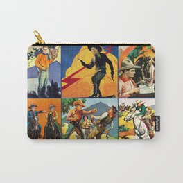 Vintage Western Cowboy Movie Poster Blocks Carry-All Pouch