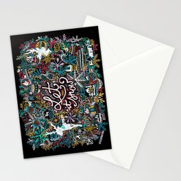 'Let It Snow' Christmas Doodle Drawing Stationery Cards