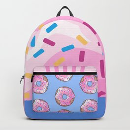 Pink Strawberry Donut Backpack