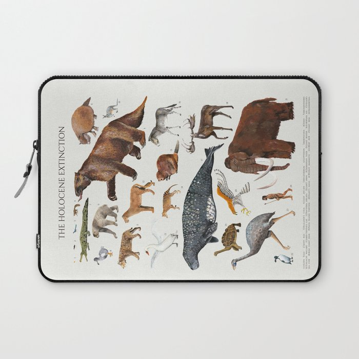 Animal chart of the Holocene extinction Laptop Sleeve