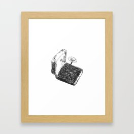 Daisy in a box Framed Art Print